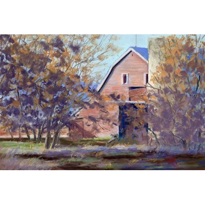 The Benson Barn in Whitney, Idaho…AKA 'The Scream (February) - Pastel by Debra K. Carter