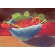 Bowl of Currants - Pastel  by Debra Kay Carter