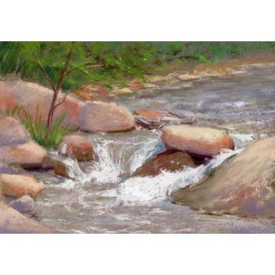 Coal Creek - Plein Air Pastel  by Debra Kay Carter