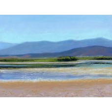 Lake Quichapa - Pastel by Debra K. Carter
