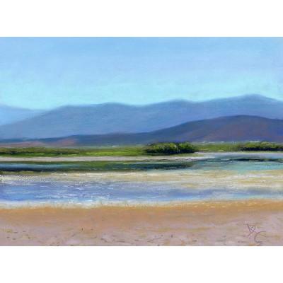 Lake Quichapa - Pastel by Debra K. Carter