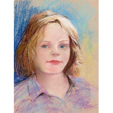 Pensive - Pastel by Debra Kay Carter