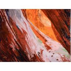 Peekaboo Canyon - Kanab - Encaustic - by Donald Alan Carter