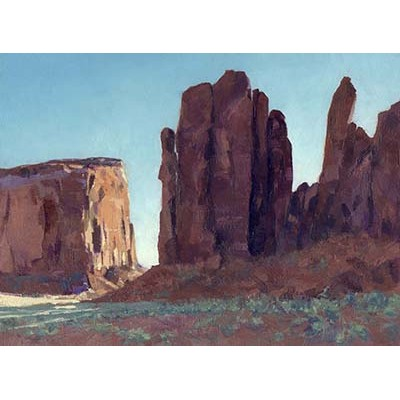 Monument Valley Sunrise - Oil on Panel - by Donald Alan Carter