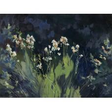 Rabbit Brush near Pinto - Oil on Panel