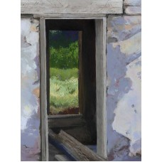 Forgotten Portal - State Line Mine - Pastel - by Donald Alan Carter